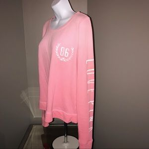 VS Pink Ombré Graphics Sweater XS